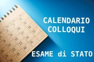 Calendari Colloqui Esame di Stato