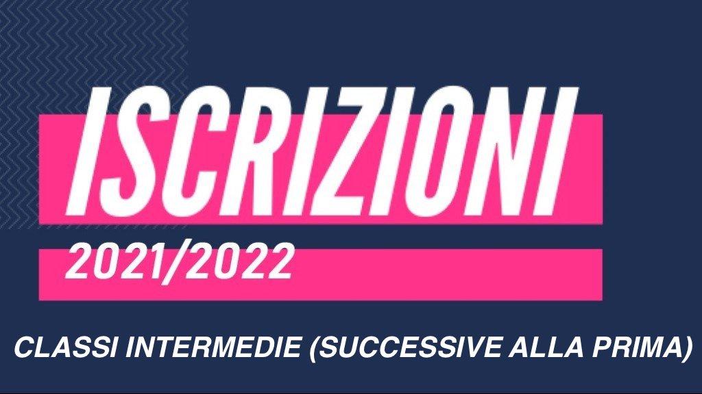 ISCRIZIONI alle classi intermedie, a.s. 2021/2022
