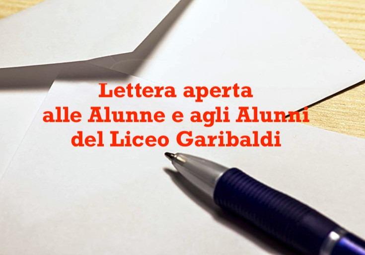 Lettera aperta alle alunne e agli alunni del Liceo Garibaldi