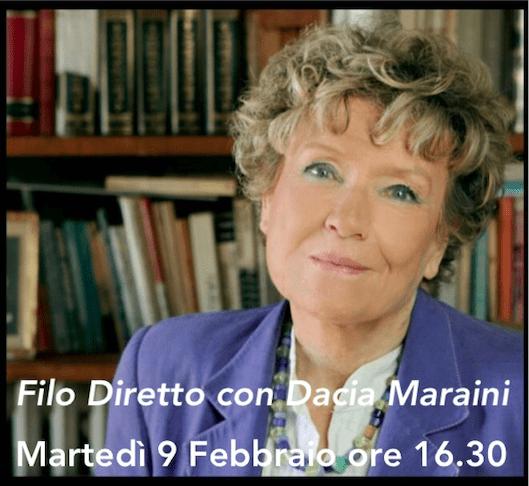 Filo diretto con Dacia Maraini – 9 febbraio 2021
