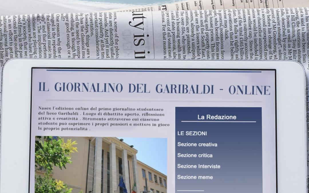 """""""Il Giornalino del Garibaldi"""" – Online"""