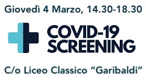 """Avviso – Screening anti-Covid 19 riservato a Studenti, Docenti e Personale ATA del Liceo Classico """"Garibaldi"""" – Registrazione"""